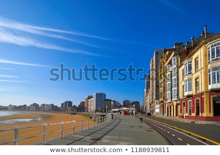 Gijon facades of Asturias in Spain Stock photo © lunamarina