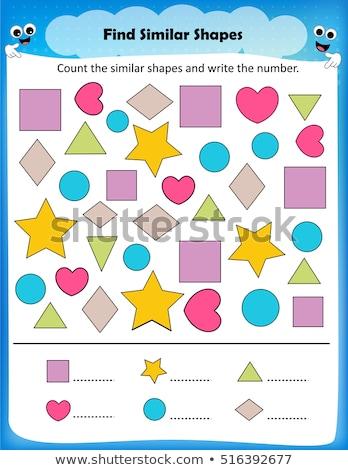 muitos · formas · tarefa · crianças · desenho · animado - foto stock © olena