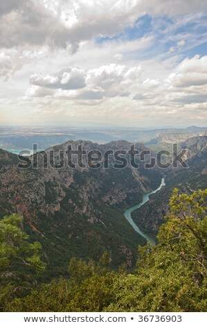 Gorges du Verdon western end Stock photo © iwfrazer