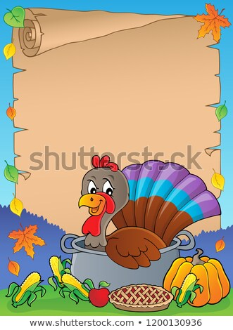 Türkiye kuş tava parşömen kâğıt yaprak Stok fotoğraf © clairev
