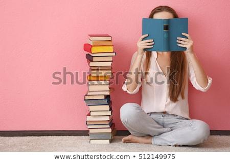 boglya · könyvek · csésze · kávé · ital · olvas - stock fotó © kzenon