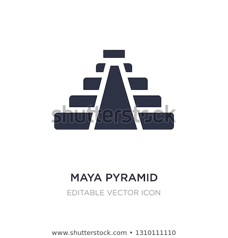 Egyptian and Maya Pyramids Vector Illustration Stock photo © robuart