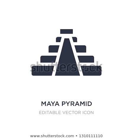 egyptian and maya pyramids vector illustration stock photo © robuart
