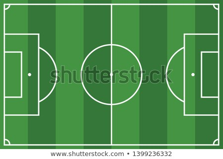 soccer field strategy plan element graphic stock photo © superzizie