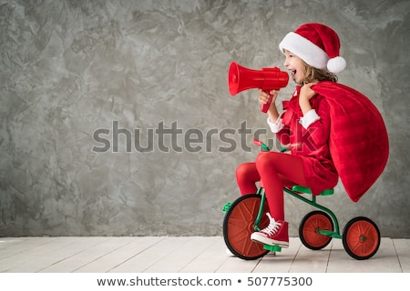 santa claus playing with happy kid for christmas stock photo © cienpies