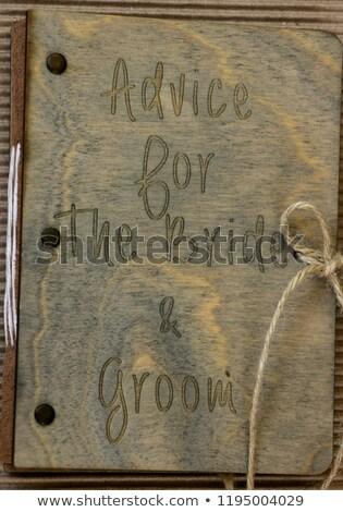 совет невеста жених древесины книга окна Сток-фото © ruslanshramko