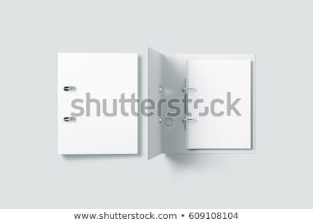 halka · renkli · beyaz · iş · kâğıt - stok fotoğraf © creisinger