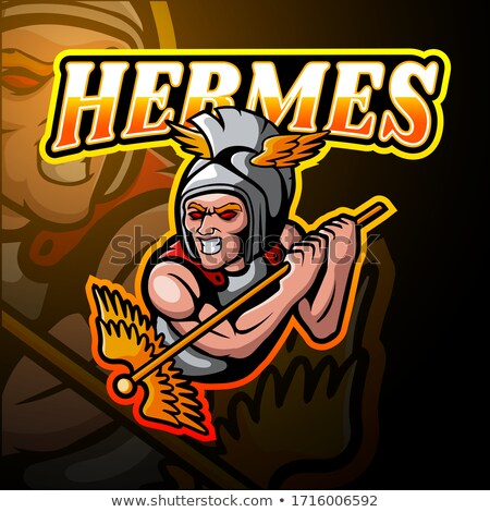 cartoon angry hermes man stock photo © cthoman
