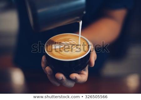 Кубок · искусства · кофе · темно · продовольствие · любви - Сток-фото © grafvision