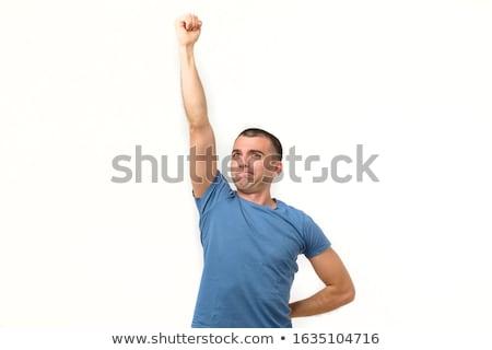 funny man fist up Stock photo © rogistok