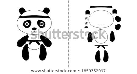 Desenho animado sorridente karatê tenha Foto stock © cthoman