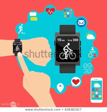 цифровой вектора здорового деятельность жизни иконки Сток-фото © frimufilms