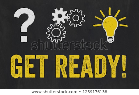 Question Mark, Gears, Light Bulb Concept - Get ready Stock photo © Zerbor