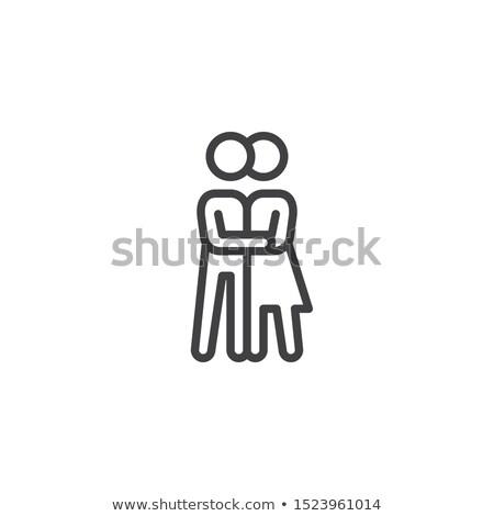 Fiúbarát barátnő tánc ikon vektor felirat Stock fotó © blaskorizov