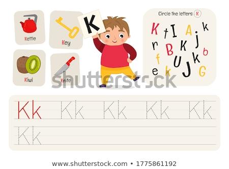 how to write letter K workbook Stock photo © izakowski