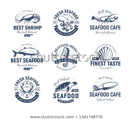 Octopus and Lobster Seafood Vector Vintage Icons Stock photo © robuart