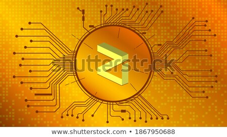 ZIL - Zilliqa. The Crypto Coins or Cryptocurrency Logo. Stock photo © tashatuvango