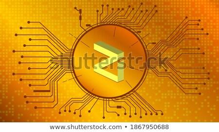 logo · pazar · amblem · madeni · para · Internet · teknoloji - stok fotoğraf © tashatuvango