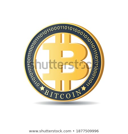 Ripple - Digital Coin Vector Icon of Cryptographic Currency. Stock photo © tashatuvango