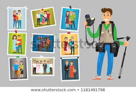 Family Photo Session of People at Wedding Parties Stock photo © robuart
