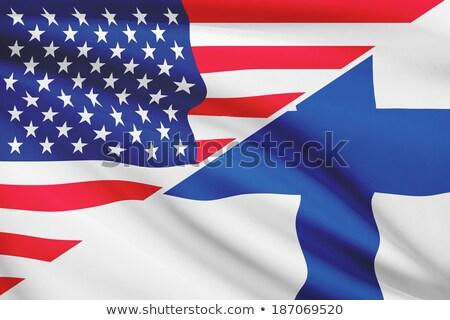 два флагами Соединенные Штаты Финляндия изолированный Сток-фото © MikhailMishchenko