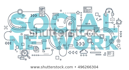 Social networks promotion concept banner header. Stock photo © RAStudio
