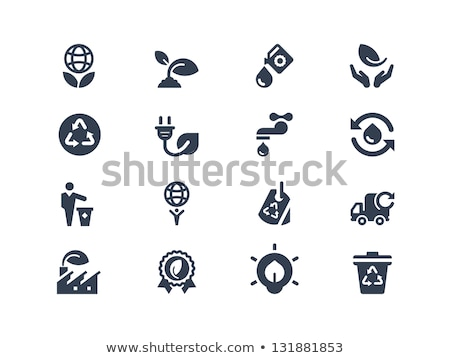 power plug eco green icon logo vector element Stock photo © blaskorizov