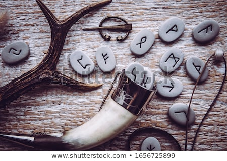 Viking háború fegyverek vikingek tapéta acél Stock fotó © colematt