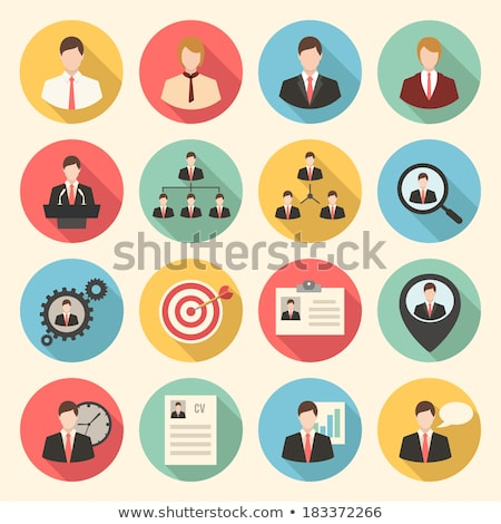 Office location - flat design style colorful illustration Stock photo © Decorwithme