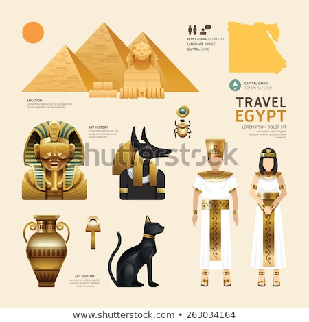Man tourist by pyramid in Egypt Stock photo © simply