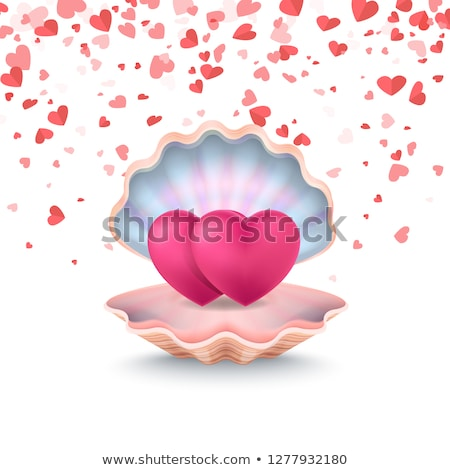 Conch with Couple of Hearts, Feeling Love Vector Stock photo © robuart