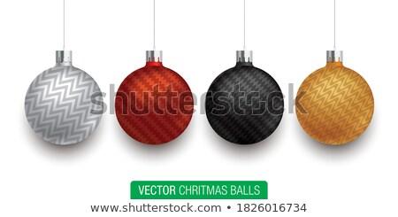 Oval kırmızı top model ağaç vektör Stok fotoğraf © robuart