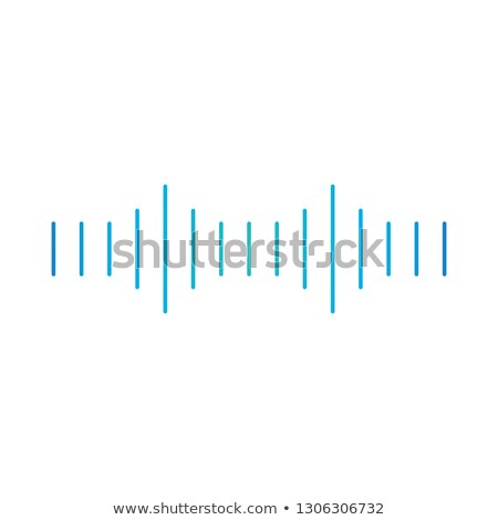 Linear sound or voice floating media wave, soundwave icon. Minimalistic design. Vector illustration  Stock photo © kyryloff