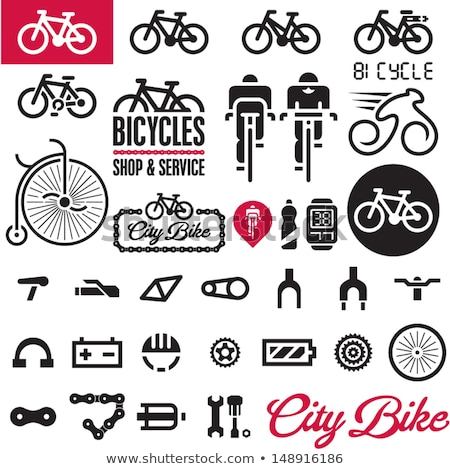 vector set of bicycle saddles stock photo © olllikeballoon