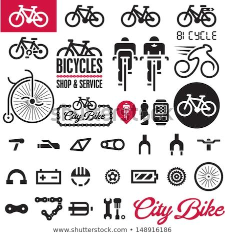 Vektör ayarlamak bisiklet şehir uygunluk yarış Stok fotoğraf © olllikeballoon