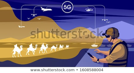 Military operation concept vector illustration. Stock photo © RAStudio