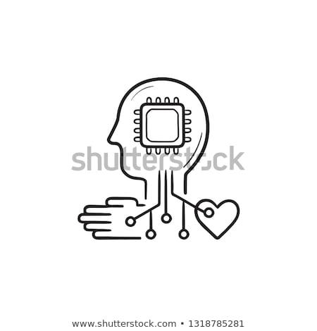 マシン · 学習 · 手描き · いたずら書き · アイコン - ストックフォト © RAStudio