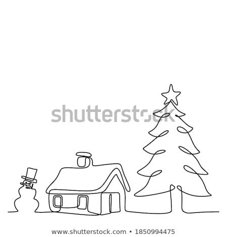 árbol · de · navidad · decorado · forestales · hojas · perennes · planta · juguetes - foto stock © robuart