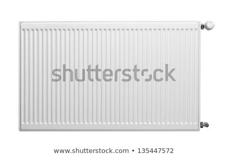 Radyatör yalıtılmış beyaz ısıtma görmek Stok fotoğraf © magraphics