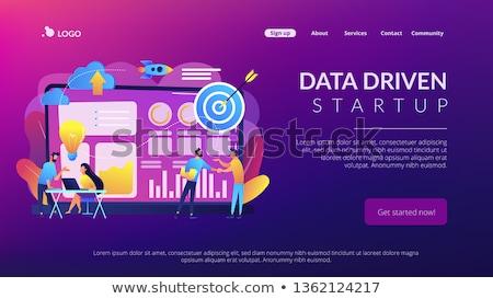 Veri girişim iniş sayfa küçücük iş Stok fotoğraf © RAStudio