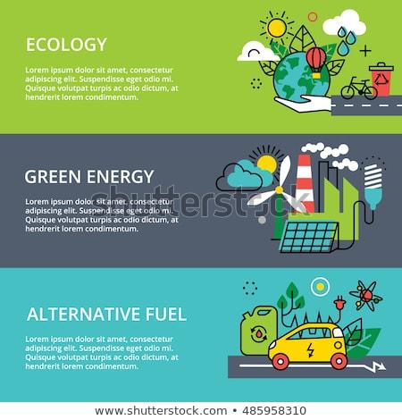 alternatief · brandstof · zakenman · groene · stad · elektrische · auto - stockfoto © RAStudio