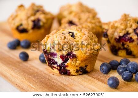 Freshly baked blueberry cake Stock photo © YuliyaGontar