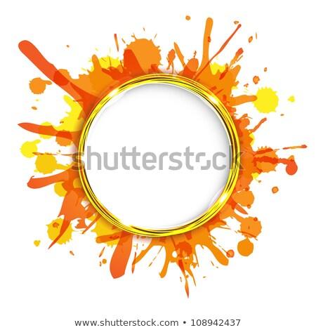 Dialog balony pomarańczowy gradient streszczenie Zdjęcia stock © adamson