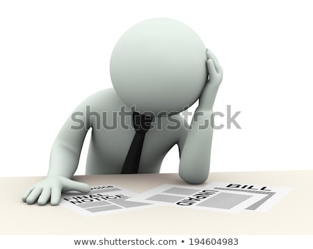 3d worried frustrated sad man about unpaid bills Stock photo © ribah