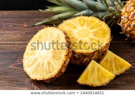Ananas illustratie hout frame kunst Stockfoto © colematt