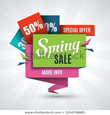 Big Sale Spring Discounts and Offers 50 Half Off Stock photo © robuart