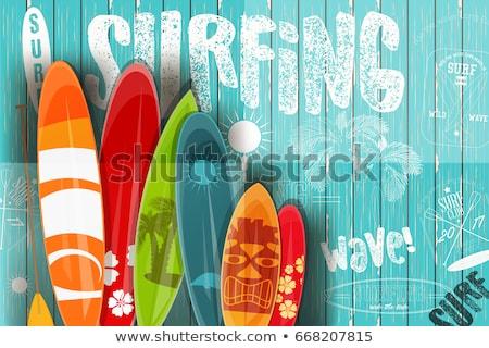 Сток-фото: серфинга · совета · лет · набор · икона · изолированный