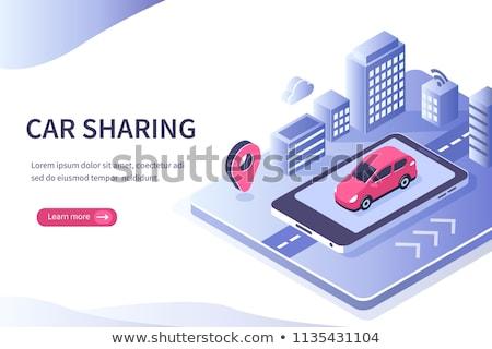inteligente · carro · transporte · público · rua · estrada · vetor - foto stock © robuart