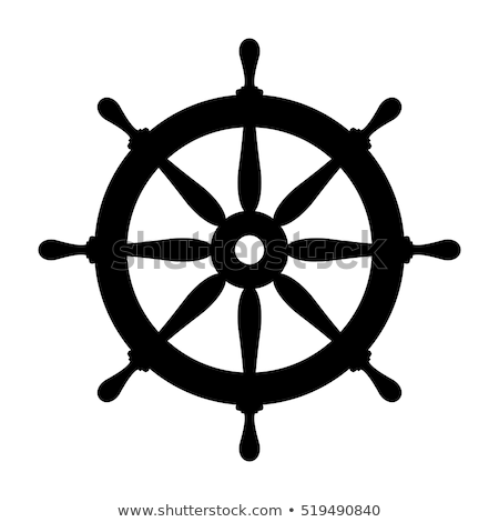 vector boat handwheel, ship wheel helm Сток-фото © VetraKori