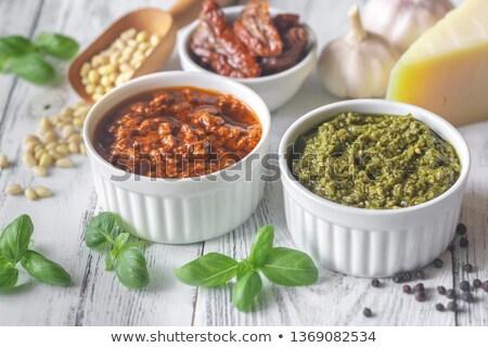 ingredienti · pesto · alimentare · vetro · cucina · banca - foto d'archivio © alex9500
